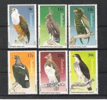 ZIMBABWE (1984) - Mi 297/302 Y 71/76 **MNH - OISEAUX / BIRDS - AIGLES / EAGLES - Zimbabwe (1980-...)
