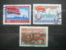 Soviet Baltic Republic And Moldova # USSR Russia Sowjetunion # 1960 Used # Mi 2366/8 - Gebruikt