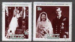 Aitutaki 1972 Royal Silver Wedding Set Of 2, Fine Used (A) - Aitutaki