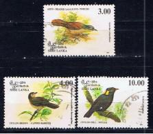 CL+ Sri Lanka 1993 Mi 1033-34 1036 Vögel - Sri Lanka (Ceylon) (1948-...)