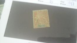 LOT 233859 TIMBRE DE COLONIE DAHOMEY OBLITERE N�10 VALEUR 17 EUROS