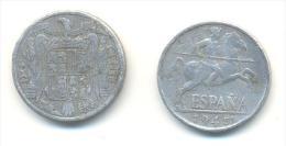 SPAGNA  10  Centimos  ANNO 1945 - 10 Centimos
