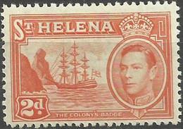 Saint HELENA ISLANDS..1938..Michel # 101...MLH. - Isola Di Sant'Elena