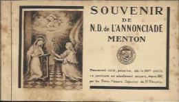 CARNET Complet De 12 Cartes Postales Anciennes De MENTON - Souvenir De N.D. De L'Annonciade. - Menton