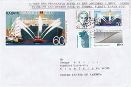 D+ Deutschland 1989 1993 Mi 1419 1654 Hafen Hamburg, Gewandhausorchester Auf Brief An G. Shultz, US-Politiker - Covers & Documents