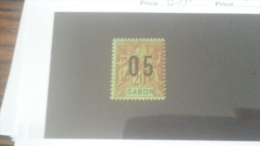 LOT 233907 TIMBRE DE COLONIE GABON NEUF* N�69A