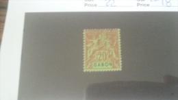 LOT 233910 TIMBRE DE COLONIE GABON NEUF(*) N�22 VALEUR 18 EUROS
