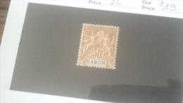 LOT 233911 TIMBRE DE COLONIE GABON NEUF* N�24 VALEUR 19 EUROS