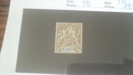 LOT 233915 TIMBRE DE COLONIE GABON NEUF(*) N�28 VALEUR 18 EUROS