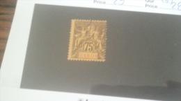 LOT 233916 TIMBRE DE COLONIE GABON NEUF(*) N�29 VALEUR 28 EUROS