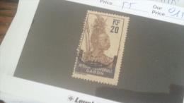 LOT 233924 TIMBRE DE COLONIE GABON OBLITERE N�55 VALEUR 15 EUROS