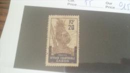 LOT 233925 TIMBRE DE COLONIE GABON OBLITERE N�55 VALEUR 15 EUROS