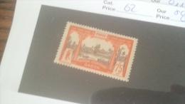 LOT 233926 TIMBRE DE COLONIE GABON NEUF* N�62 VALEUR 8 EUROS