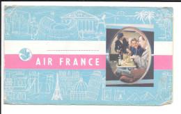 Pochette Air France billet 1956 - voir les images