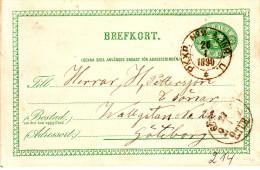 """ZWEDEN  AMBULANT  BAHNPOST :  ENTIER """"P K X P  N° 2 /  A  INR. U. / 26.I.1890 *"""" - Suède"""