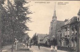 Hillegom Stationsweg Met Geref. Kerk - Nederland