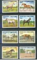 COMORES * SERIE 8v YEAR 1983 * HORSES * LIPIZZAN * APPALOOSA * ANDALOU * MNH - Comoren (1975-...)