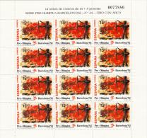 España Nº 3157 Al 3159 En Minipliegos De 12 Series - Ganze Bögen