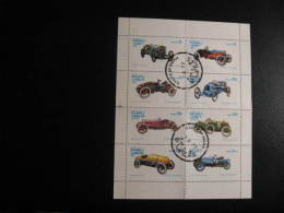 Oma77-06  Feuille De 8, Automobiles, Cars, Sheet Of 8; CTO; 1977 - Oman