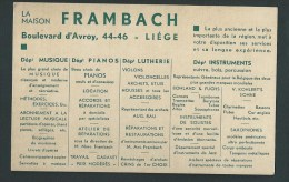Buvard - Maison Frambach. Musique, Pianos, Lutherie, Instruments. Li�ge Boulevard d'Avroy, 44-46.