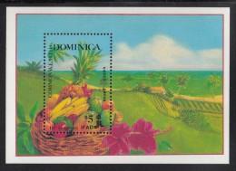 Dominica MNH Scott #1090 Souvenir Sheet $5 Mixed Crops 10th Anniversary International Fund For Agricultural Development - Dominique (1978-...)