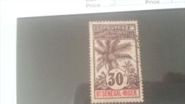 LOT 233983 TIMBRE DE COLONIE HAUT SENEGAL OBLITERE N�9 VALEUR 7 EUROS