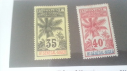 LOT 233986 TIMBRE DE COLONIE HAUT SENEGAL NEUF* N�10/11 VALEUR 21 EUROS