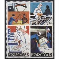 Färöer 1990 Die Fischindustrie 194/97 Postfrisch - Féroé (Iles)