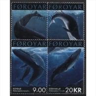Färöer 2001 Naturschutz Wale 408/11 Gestempelt - Féroé (Iles)