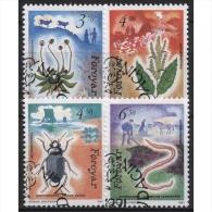 Färöer 1991 Durch Menschen Verbreitete Pflanzen Und Tiere 211/14 Gestempelt - Faroe Islands