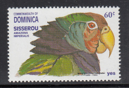 Dominica MNH Scott #1401 60c Amazona Imperialis (parrot) - Year Of The Environment And Shelter - Dominique (1978-...)
