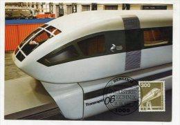 GERMANY  / BERLIN-WEST - AK 211307 MC MaxiPhil 15/82 Magnetbahn - Cartoline Maximum