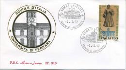 ITALIA - FDC  ROMA LUXOR  1992 -  UNIVERSITA´ DI FERRARA - ANNULLO ROMA - F.D.C.