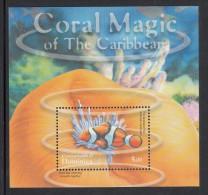 Dominica MNH Scott #2280 Souvenir Sheet $5 Pink Anemone Fish, Giant Sea Anemone - Coral Magic Of The Caribbean - Dominique (1978-...)
