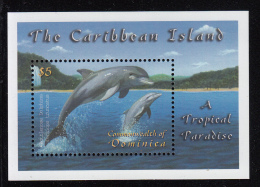 Dominica MNH Scott #2318 Souvenir Sheet $5 Bottlenose Dolphins - Dominique (1978-...)
