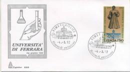ITALIA - FDC  CAPITOLIUM  1992 -  UNIVERSITA´ DI FERRARA - ANNULLO ROMA - F.D.C.