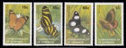 Dominica MNH Scott #768-#771 Set Of 4 Butterflies - Godman's Leaf, Zebra, Mimic, Red Rim - Dominique (1978-...)