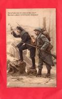 FRATERNITÉ DES ARMES CHASSEUR ALPIN ARTILLEUR CARTE EXPÉDIÉE À JOSEPHINE MAUREL BARGEMON  VAR MILITARIA - Weltkrieg 1914-18
