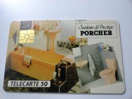 RARE : PORCHER SANITAIRE ET PRESTIGE USED CARD 1000Ex - France