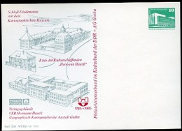 KARTOGRAPHISCHES MUSEUM Gotha DDR PP18 C2/008 Privat-Postkarte 1985 - Geographie