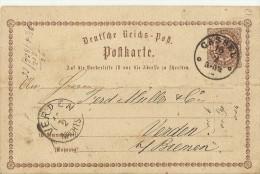 DR GS 1873 CASSEL NACH VERDEN - Germany