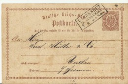 DR GS 1874 LANDESHUT IN SILESIEN LANDPOST - Cartas