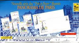 1996 - Enveloppes + Cartes Lot De 5 Prêt à Poster Emballage D´origine Lettre Monde Entier 20g, Panorama De Paris - Postal Stamped Stationery