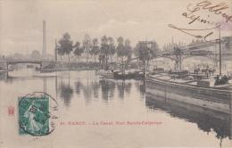 Nancy   Le Canal , Port Sainte -Catherine  Binnenschip               Scan 8784 - Nancy