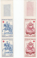 4 Timbres  Neufs En Paires CROIX ROUGE - N° 1278/1279 Cote 16€ Recto/ Verso - Francia