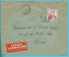 599 (surtaxe / Toeslagzegel) Op Brief Per EXPRES Met Stempel HOLLOGNE-SUR-GEER - Briefe U. Dokumente