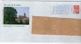 PAP--2006--BRIGUEIL LE CHANTRE--86 - Vienne--Au Coeur De La Nature--Vue Du Village--cachet Flamme Prieuré Villesalem - Postal Stamped Stationery