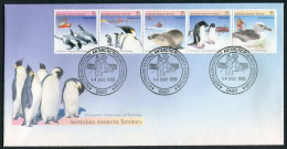 1988 Australia Antarctic Territory AAT Dolphins Penguin Seal Albatros Research Expeditions Casey FDC - Covers & Documents