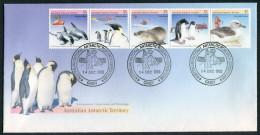 1988 Australia Antarctic Territory AAT Dolphins Penguin Seal Albatros Research Expeditions Casey FDC - Australian Antarctic Territory (AAT)