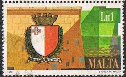 Malta SG848 1989 New State Arms £1 Good/fine Used - Malta